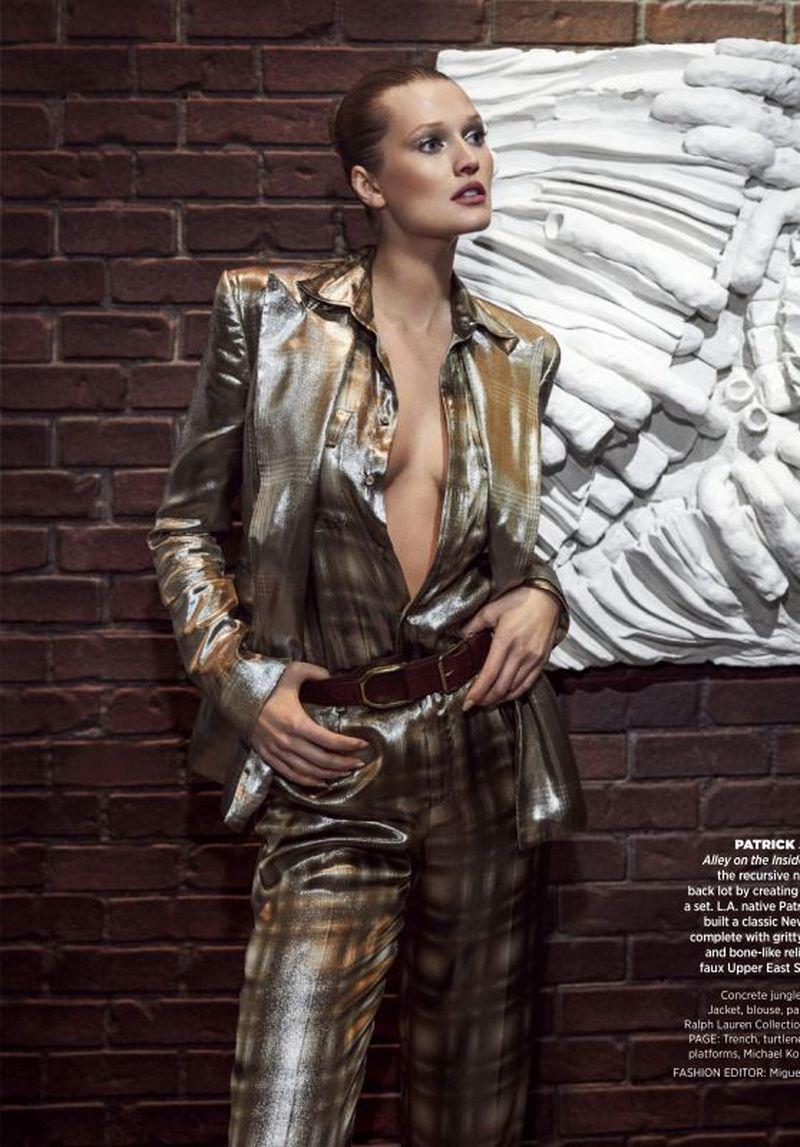 Toni Garrn Is Modern Metallics Boss Lady By Zoey Grossman