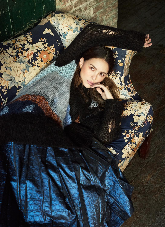 Hannah Quinlivan Poses In Rich Fabrics By Ungaro + Agriodimas