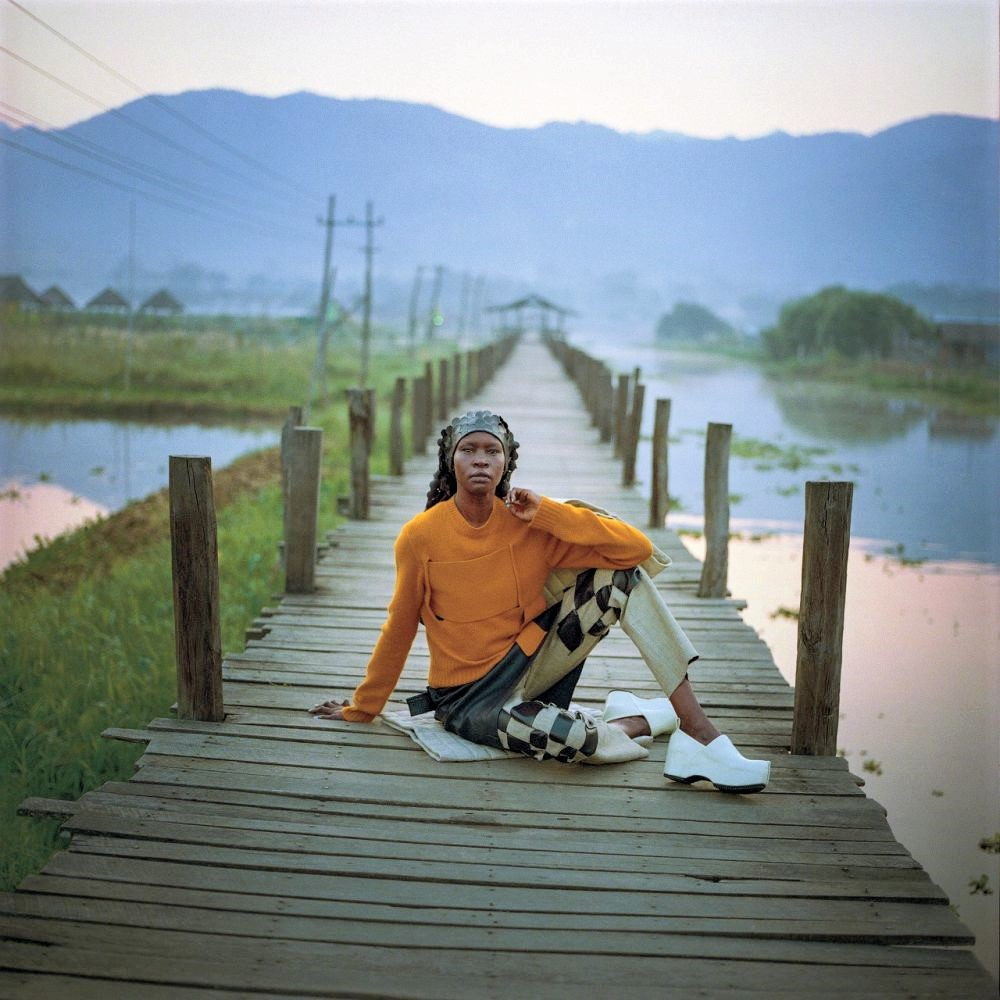 Alek Wek Wears Bottega Veneta in Myanmar For T Magazine