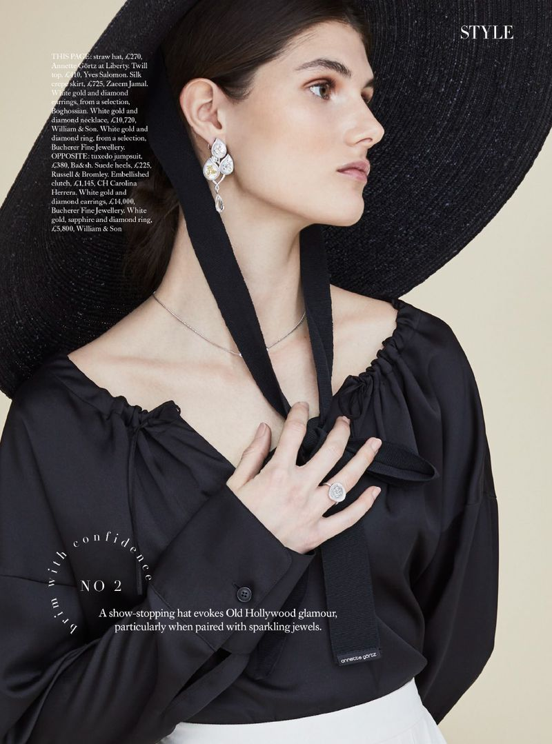 If Self-Confidence Is Embedded In Your DNA, Try A Big Hat. Lucia Lopez Is Lensed By Lara Jade