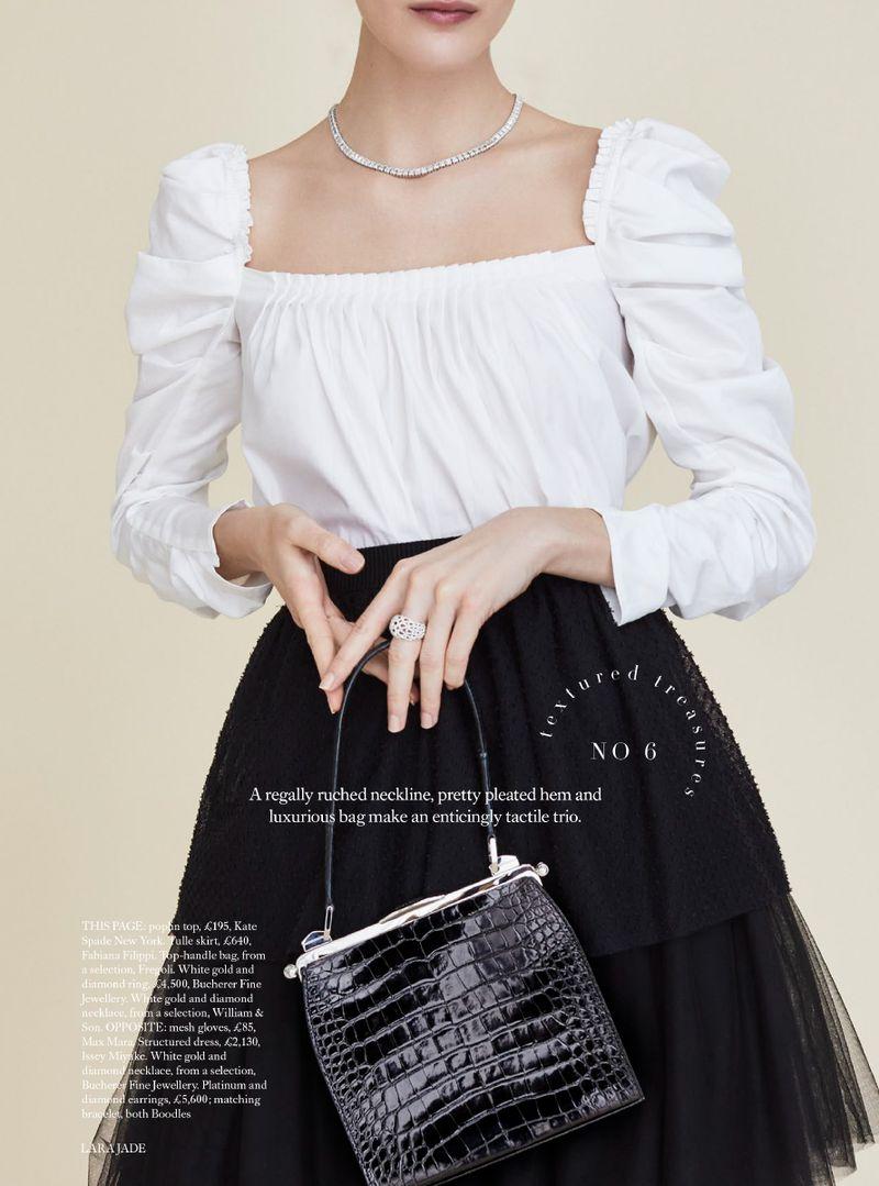 Black Magic Tulle Adds Edge To Ladylike Dressing