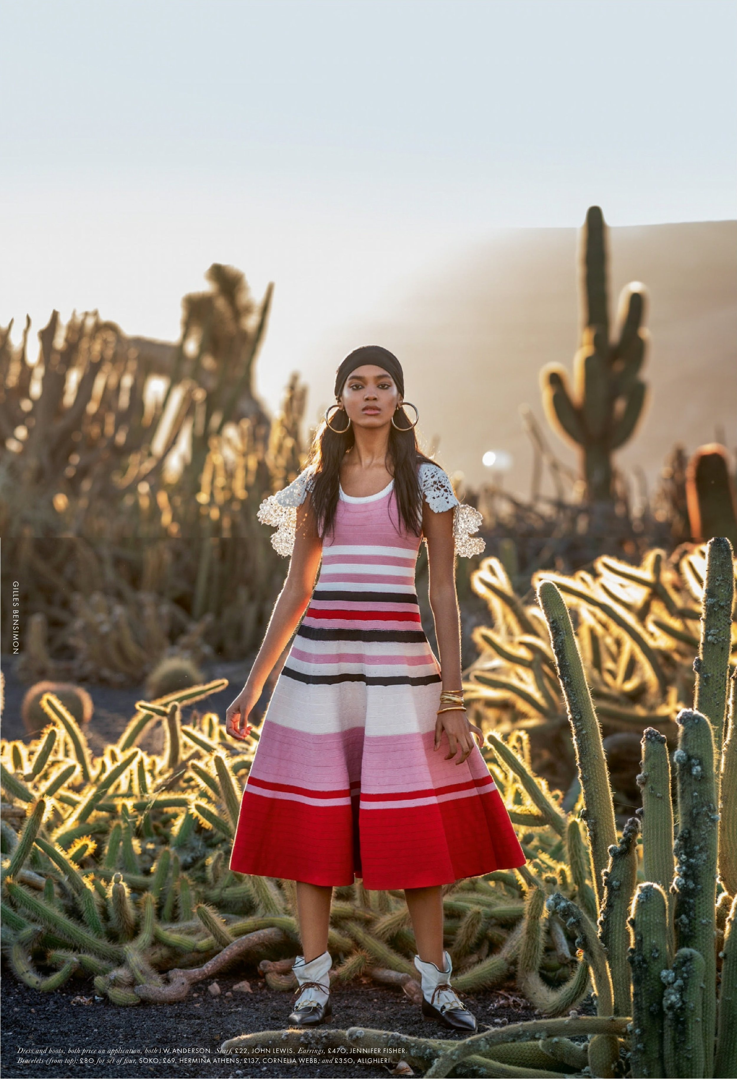 Gilles Bensimon Captures Perfect Stripes by J.W. Anderson On Julia Johnson