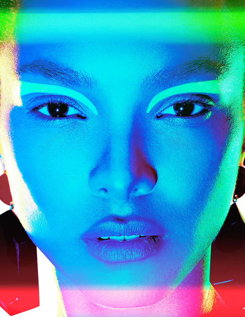 Lais Ribeiro Fronts Kaleidoscope Colors In New Beauty By Enrique Vega