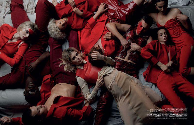 Claudia Lavender, George Griffiths, Janusz Kuhlmann, Mijo Mihaljcic, Veronika Primorac by Filip Koludrovic for Vogue Portugal May 2019.