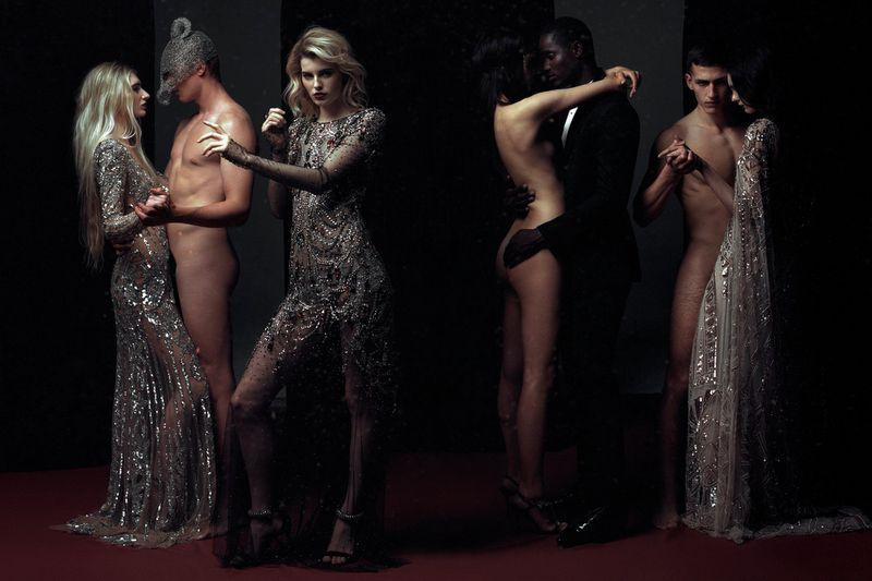 Models Claudia Lavender, George Griffiths, Janusz Kuhlmann, Mijo Mihaljcic, Veronika Primorac by Filip Koludrovic for Vogue Portugal May 2019.