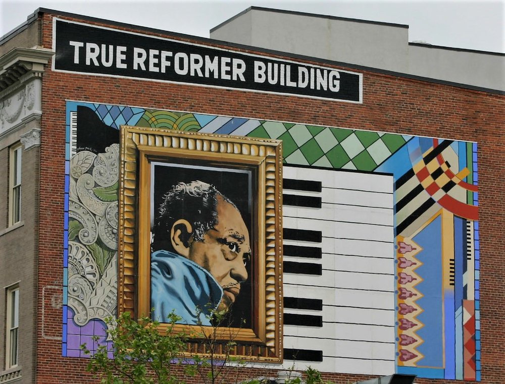 DUKE ELLINGTON MURAL ON U STREET NW IN WASHINGTON DC.