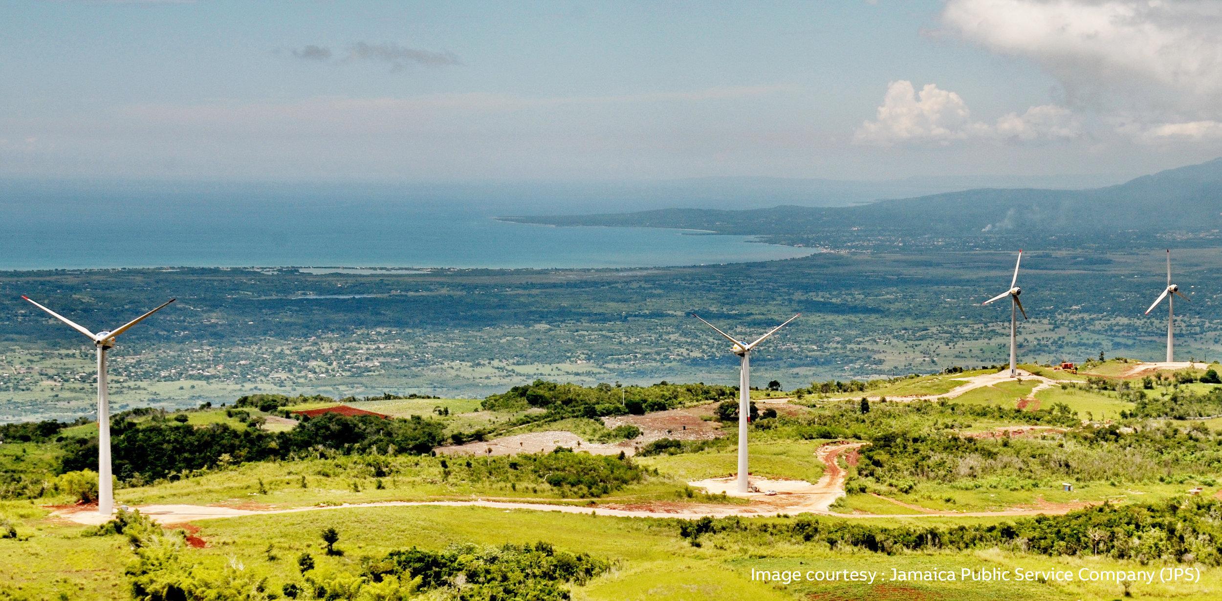 Munro Wind Farm in St. Elizabeth Jamaica (© Jamaica Public Service Company (JPS))