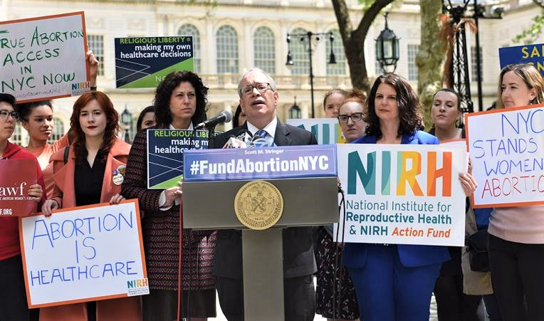 New York City Comptroller Scott Stringer at New York City Hall's rally to include abortion care funding in the city's 2020 budget. | Susan Watts/Office of New York City Comptroller  Image via  City & State New York.
