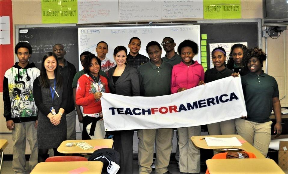 As part of Teach for America Week, Treasurer Rosie Rios was a guest teacher at Springarn Senior High School in Washington, D.C.  via US Treasury .