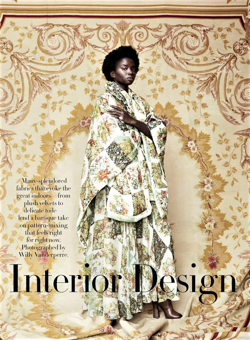 Seynabou Cisse in 'Interior Design' by Willy Vanderperre for Vogue US July 2019.