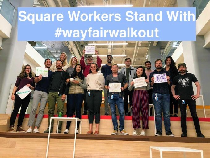 Wayfair walkout Wednesday, June 26 at Boston's Copley Plaza via   @wayfairwalkout