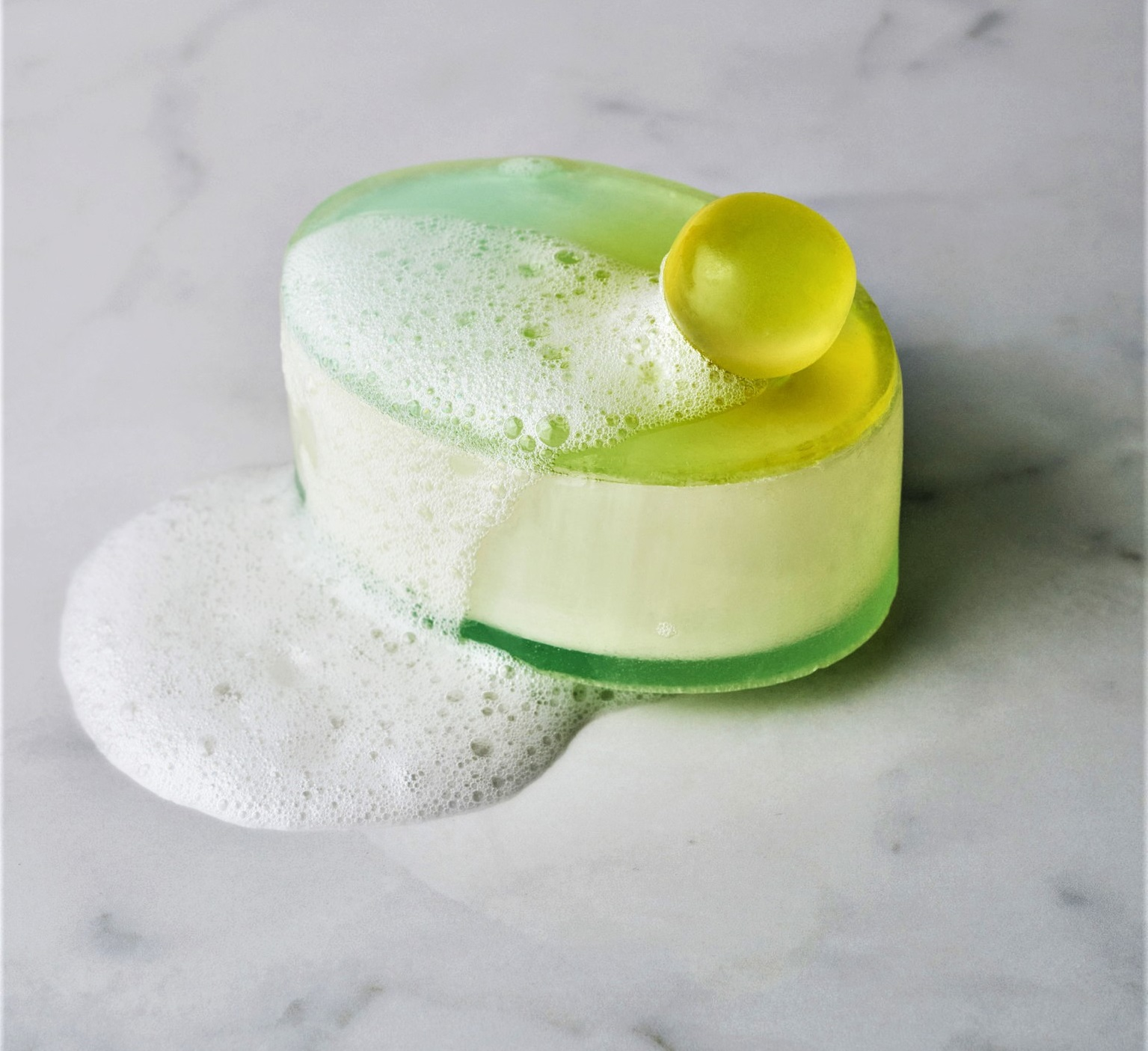 Central Saint Martins Material Futures masters student Mi Zhou creates toiletry packaging made of soap.