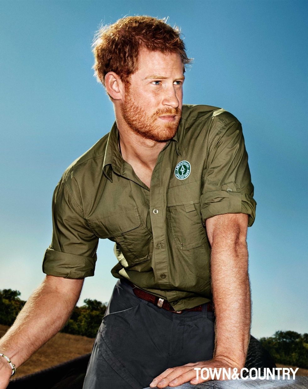 PRINCE HARRY, PHOTOGRAPHED FOR TOWN & COUNTRY by ALEXEI HAY