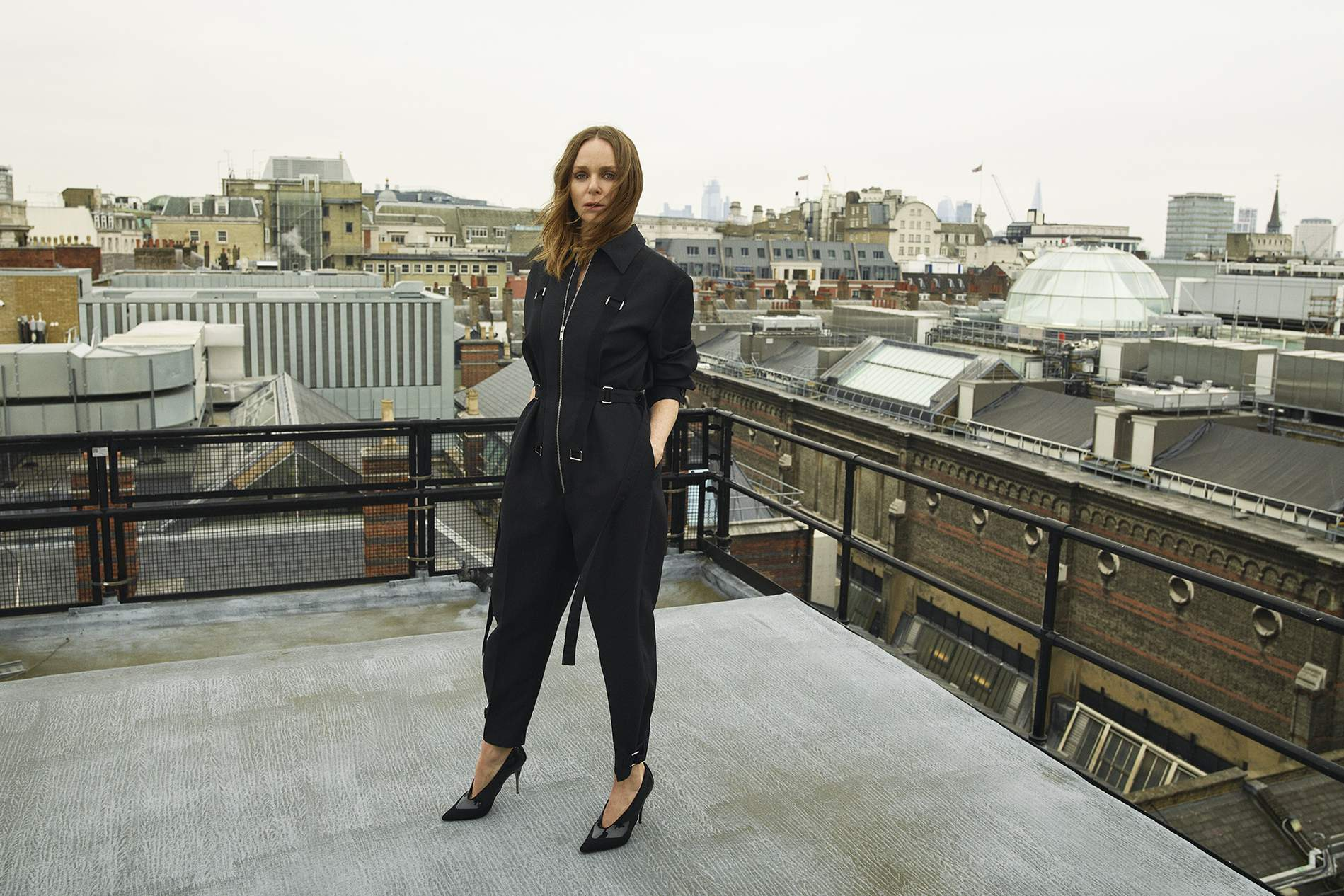 Stella MCCartney wears a jumpsuit from her own collection. Image by Matthew Sprout.
