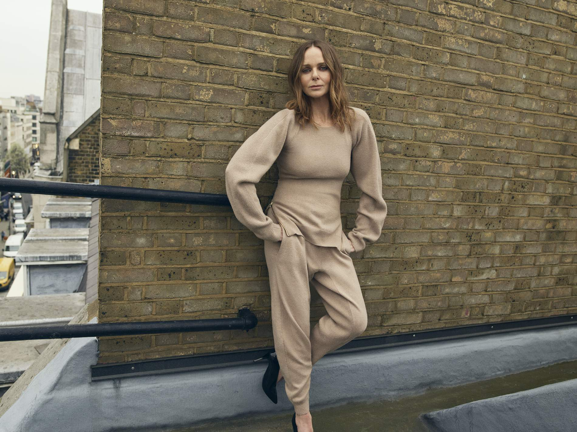 Stella MCCartney takes a brief pause in her busy life. Image by Matthew Sprout.