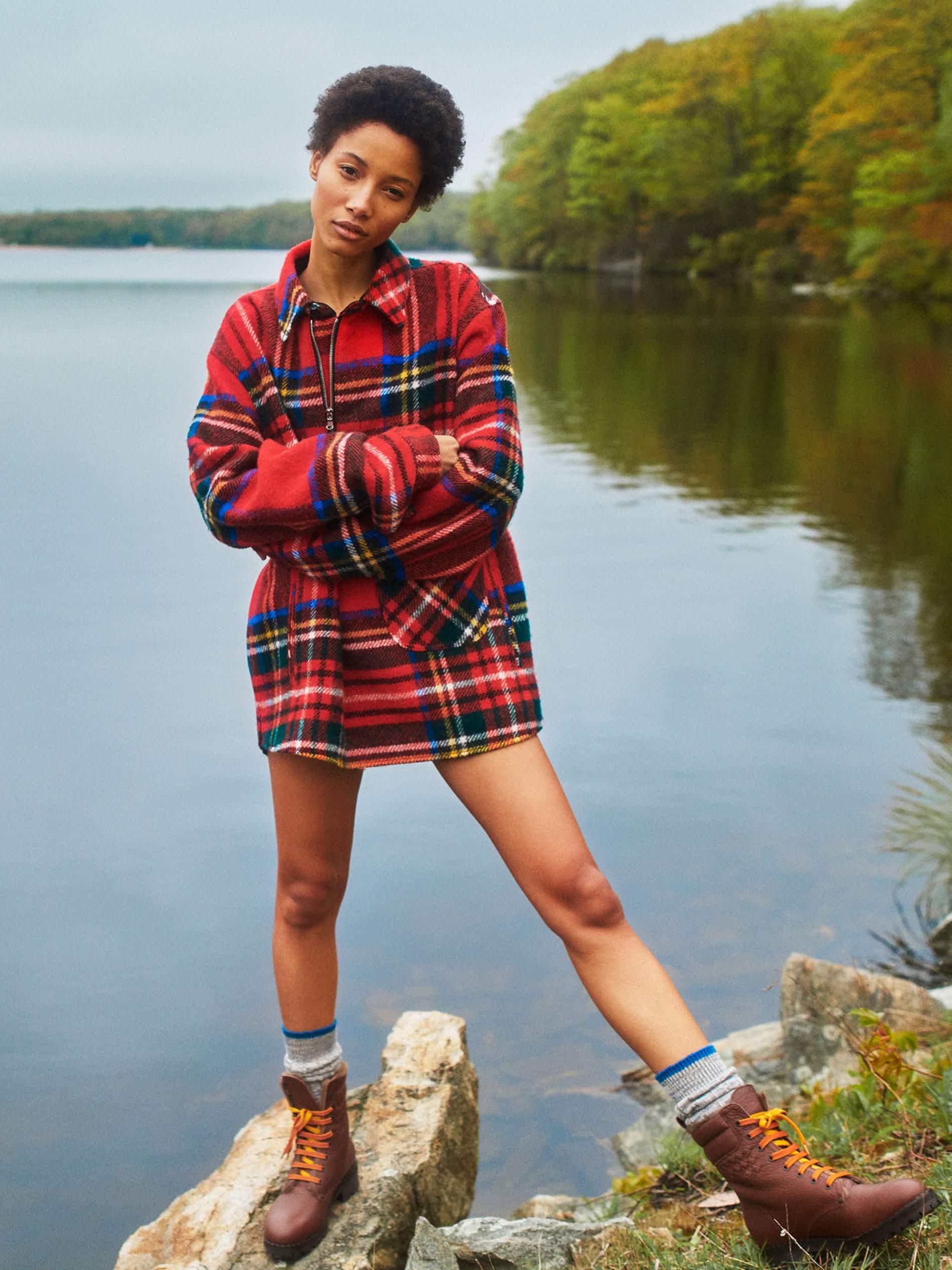 Shirt We11done; socks stylist's own; boots Bottega Veneta