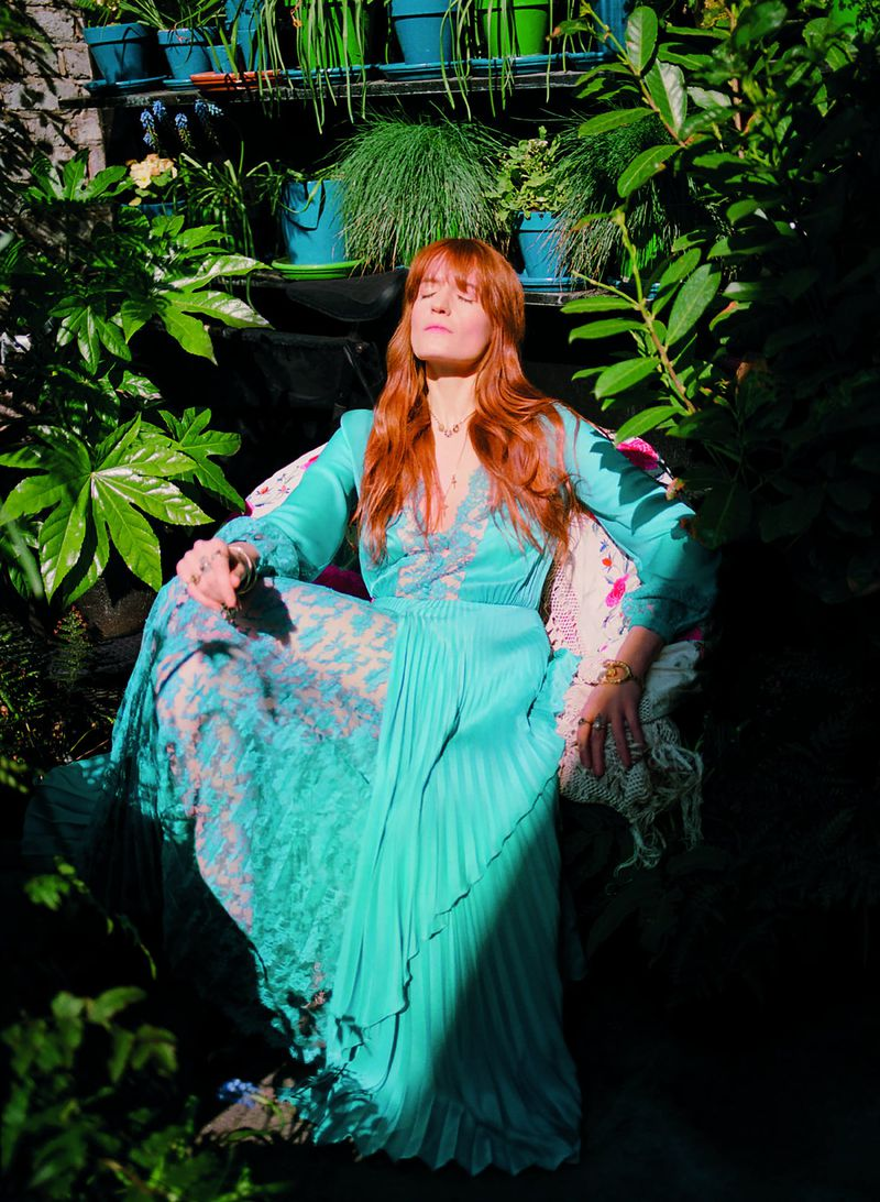 Gucci dress, £8,740. Image: Florence Welch by Bella Newman.