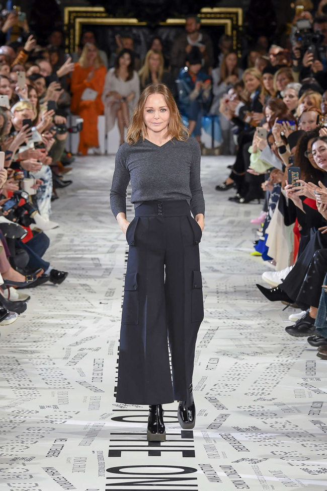 Stella McCartney at her fall 2019 women's show in Paris.CreditStephane Mahe/Reuters