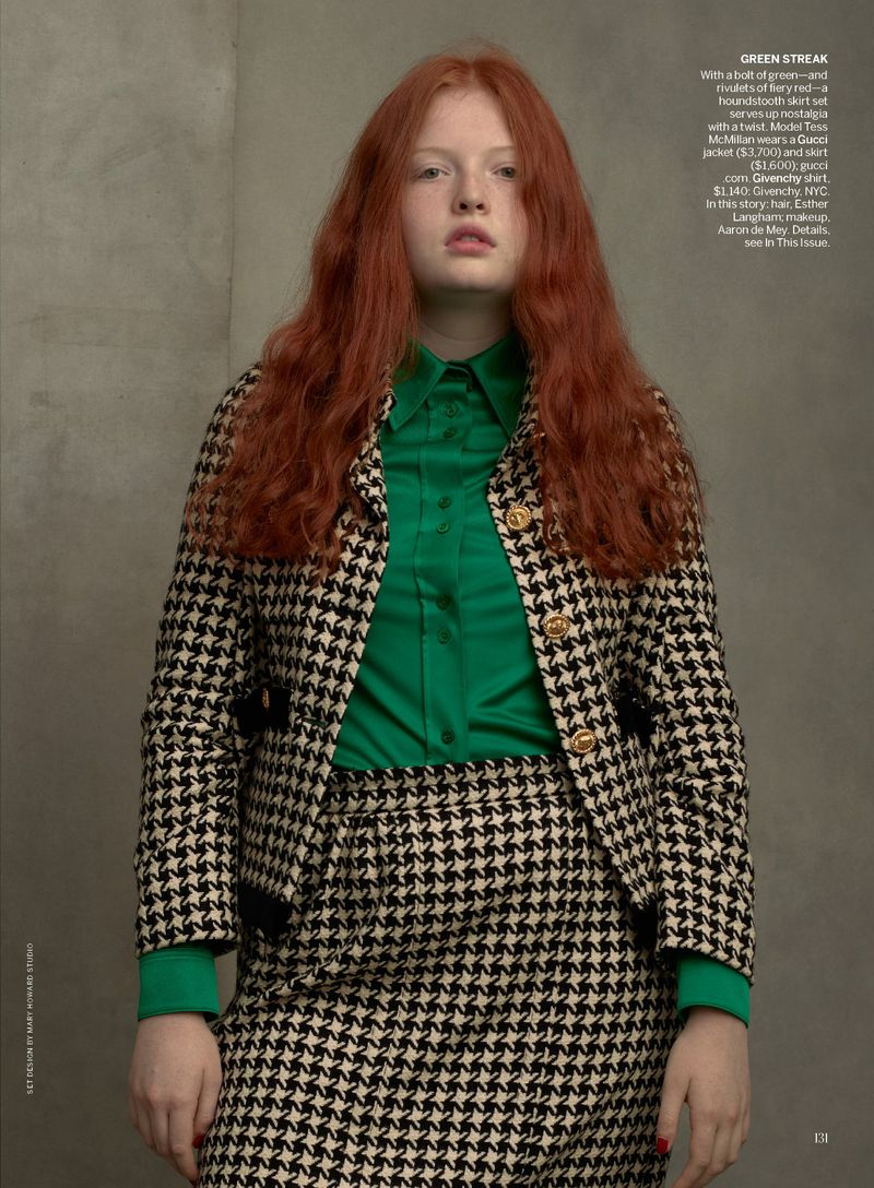 Tess McMillan by Annie Leibovitz in 'Check Please' for Vogue US August 2019