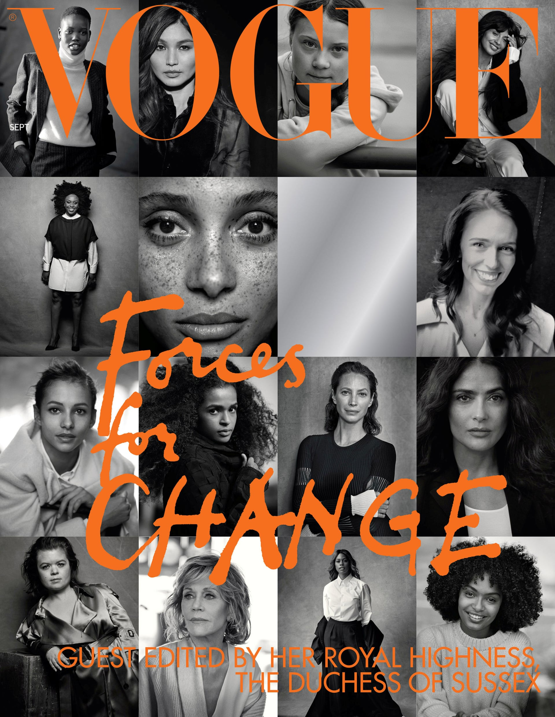 Iconic photographer Peter Lindbergh photographs the cover of British Vogue's September 2019 issue, guest edited by Meghan Markle, Duchess of Sussex.