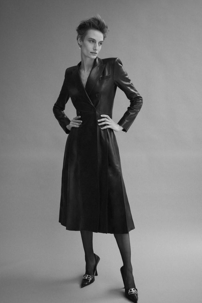 A streetwear essential is reborn as a nip-waisted coat or a voluminous cape. Alexander McQueen coat,  $8,990.   Veronika Kunz  by  Bibi Cornejo Borthwick