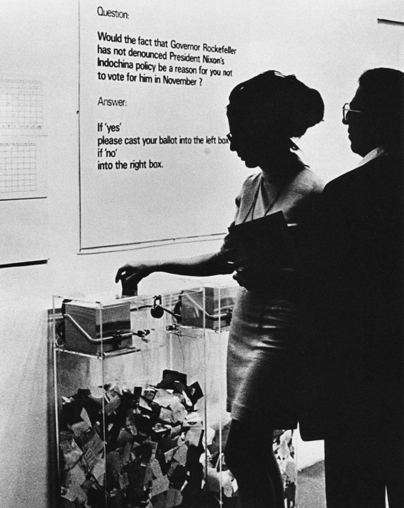 Hans Haacke,  MoMA Poll  (1970). Courtesy of the Museum of Modern Art.