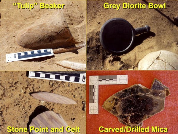 Grave artefacts from 2001-2003 excavations. Author provided.
