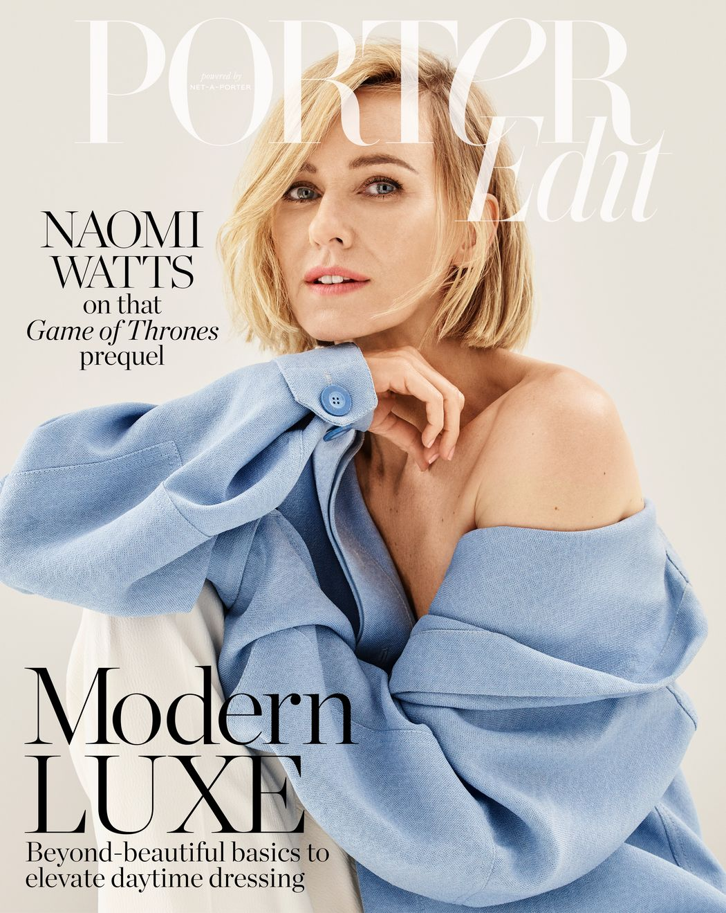 Naomi Watts by Jason Kibler for Porter Edit Aug. 2, 2019