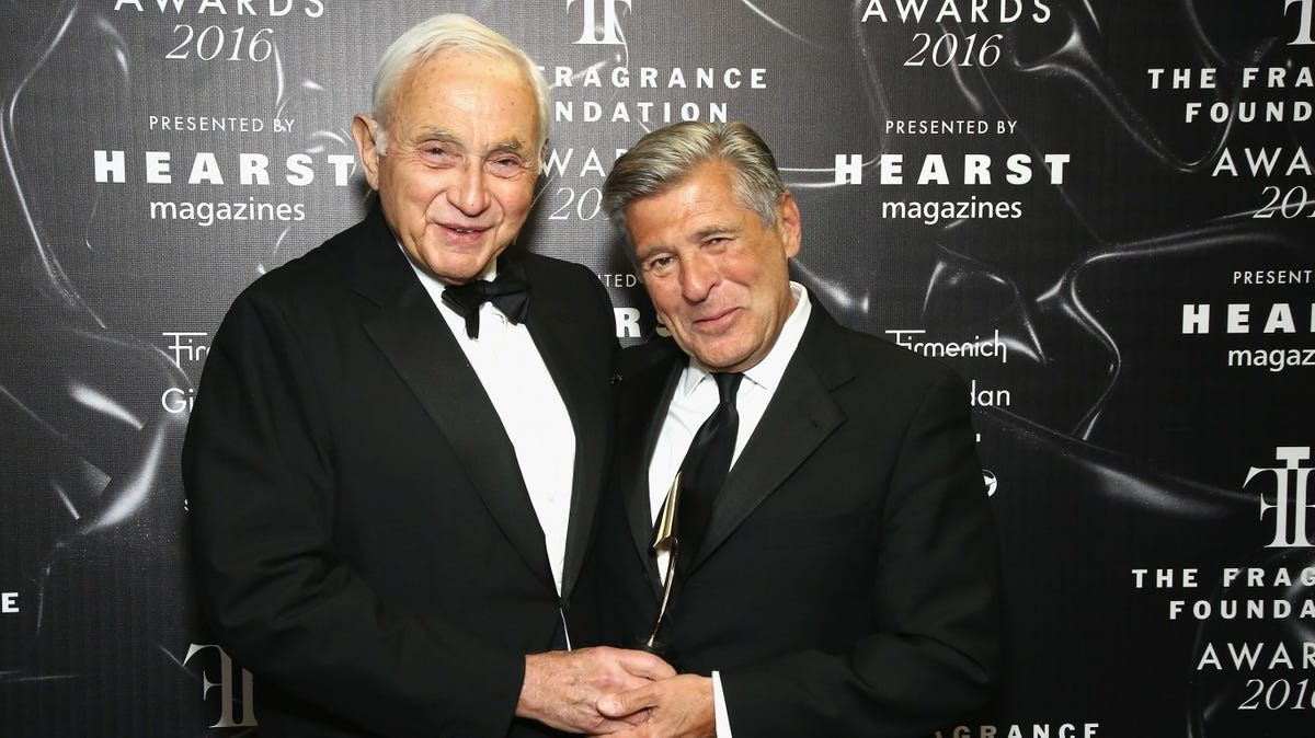 L Brands CEO Les Wexner (l) and former CMO Ed Razek (r) in happier times.