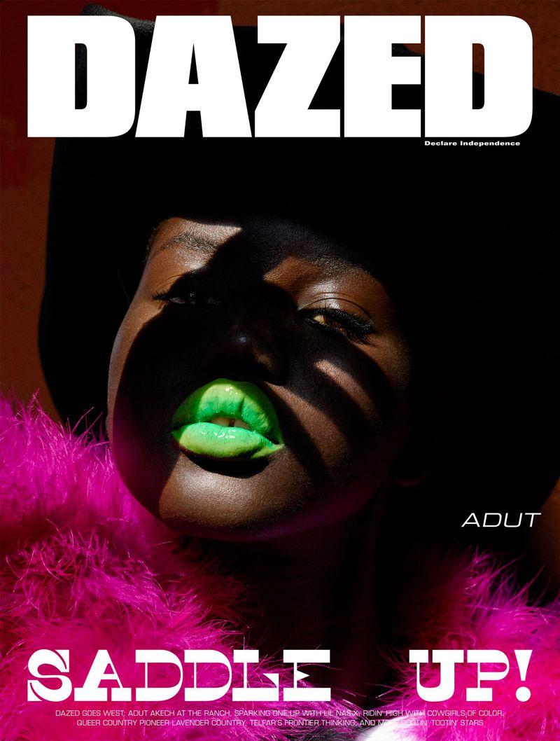 Adut Akech by Vivianne Sassen for Dazed Autumn 2019.