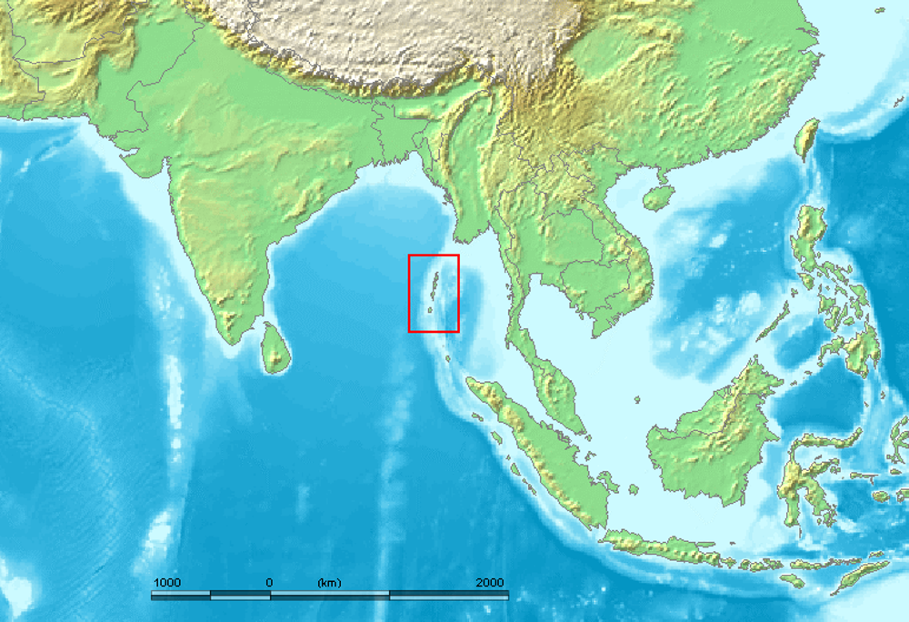 The Andaman Islands, off India.  Wikimedia  ,  CC BY