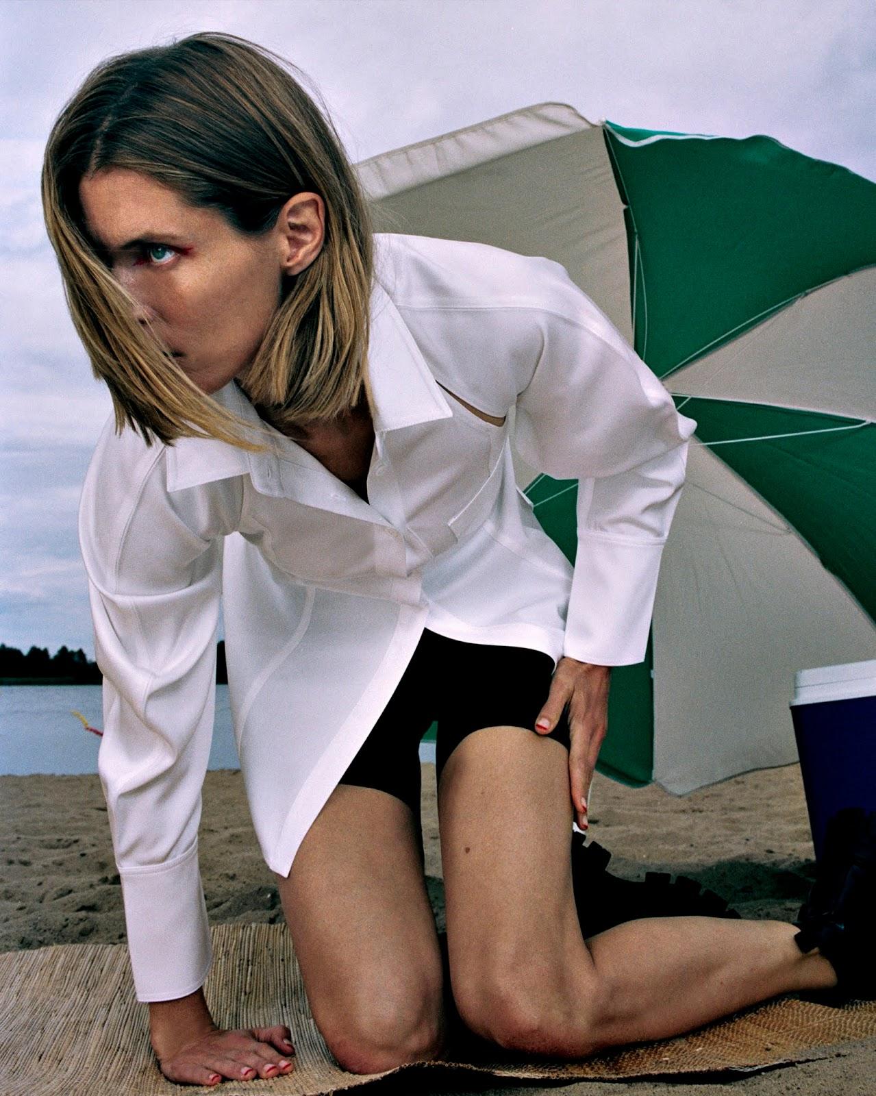 Shirt Peter Do; shorts Alexander Wang; boots Prada. Malgosia Bela by Hugo Comte.