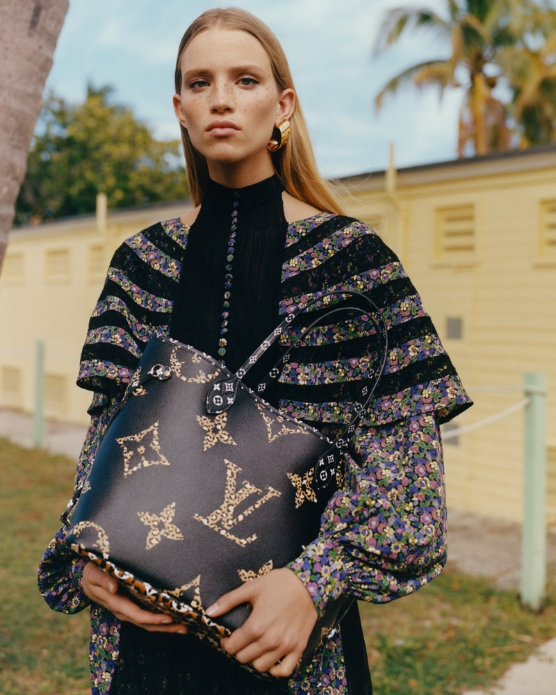 Rebecca Leigh Longendyke appears in Louis Vuitton 'Monogram Jungle 'campaign