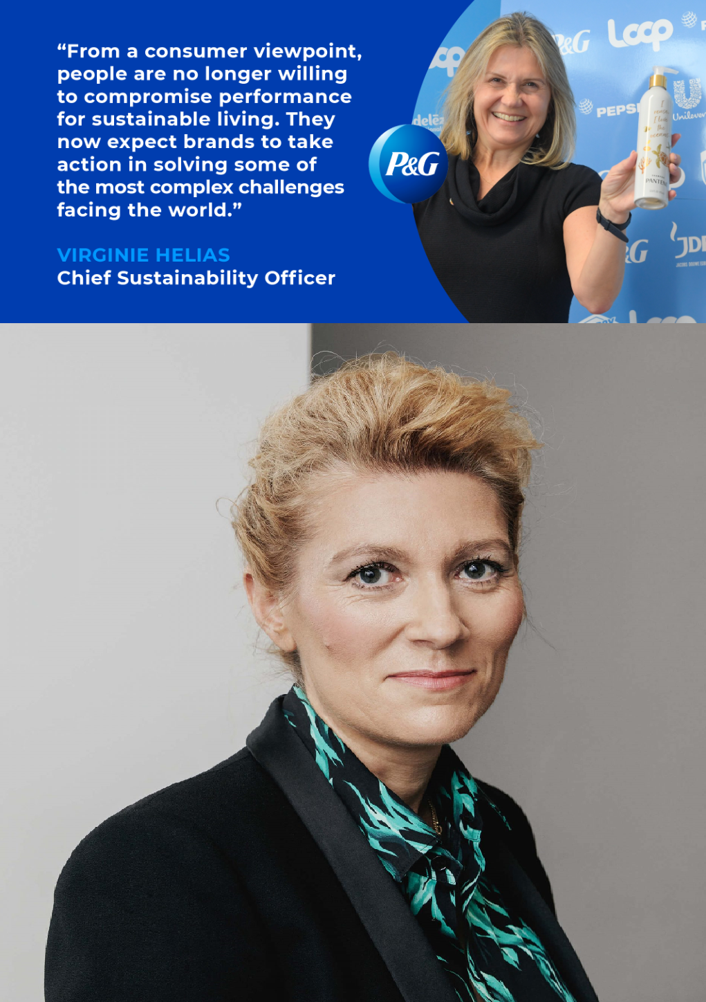 Virginie-Helias-CSO Procter Gamble (top) Marie-Claire Daveau CSO Kering (bottom)