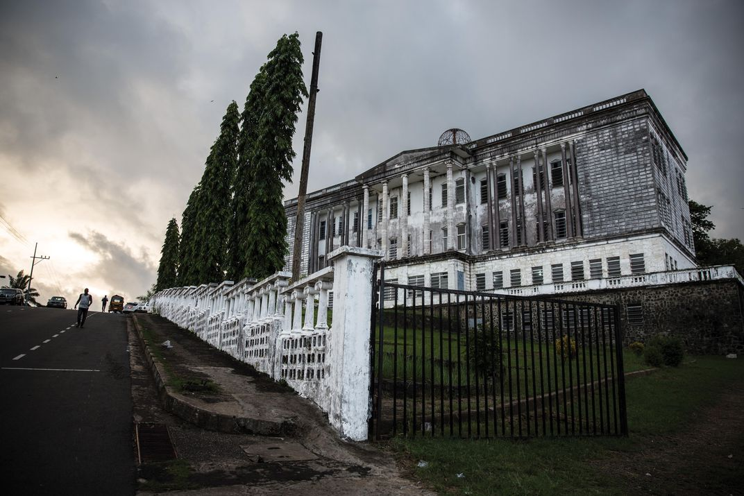 The Masonic Lodge in Monrovia, Liberia became home to descendants of American slaves, who ruled the government. Natives were not allowed to join the Lodge. Image Glenna Gordon.