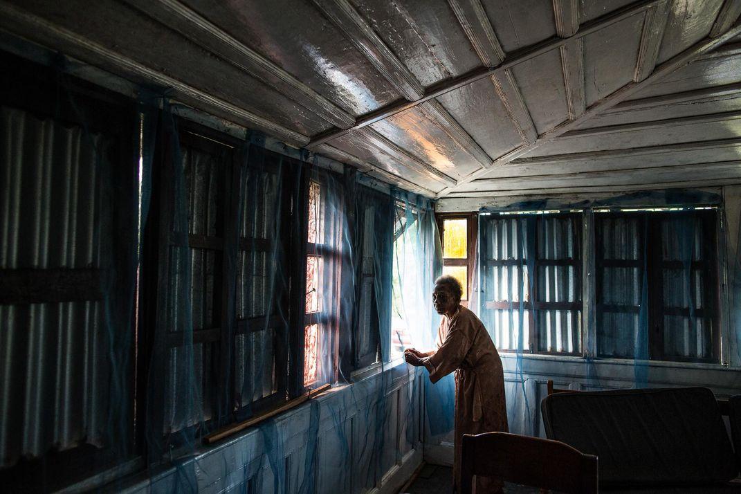 Caroline Dennis' old home in Careysburg in Liberia. Image Glenna Gordon.