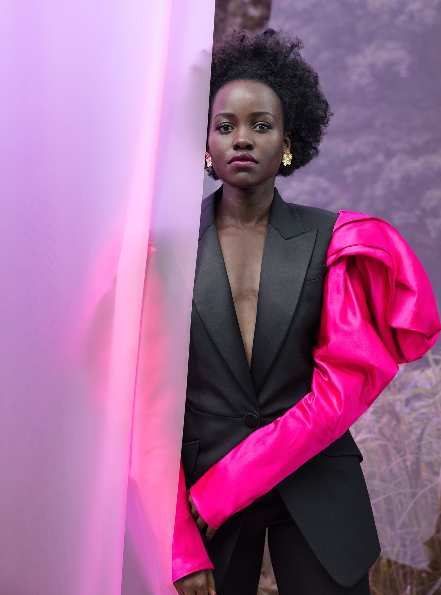 PHOTOGRAPH BY JACKIE NICKERSON; STYLED BY SAMIRA NASR. LUPITA NYONG'o. PHOTOGRAPH BY JACKIE NICKERSON; STYLED BY SAMIRA NASR.