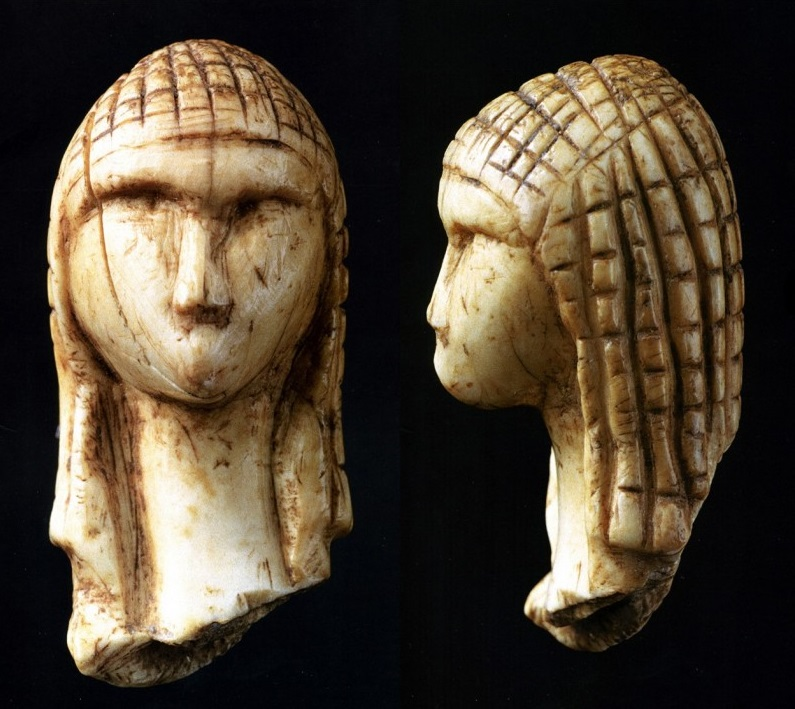 "The  Venus of Brassempouy  (French:  la Dame de Brassempouy , meaning ""Lady of Brassempouy"", or  Dame à la Capuche , ""Lady with the Hood"") is a fragmentary ivory figurine. It was discovered in a cave at  Brassempouy , France in 1892. About 25,000 years old, it is one of the earliest known realistic representations of a human face. The Venus of Brassempouy was carved from mammoth ivory.  via Wikipedia France."