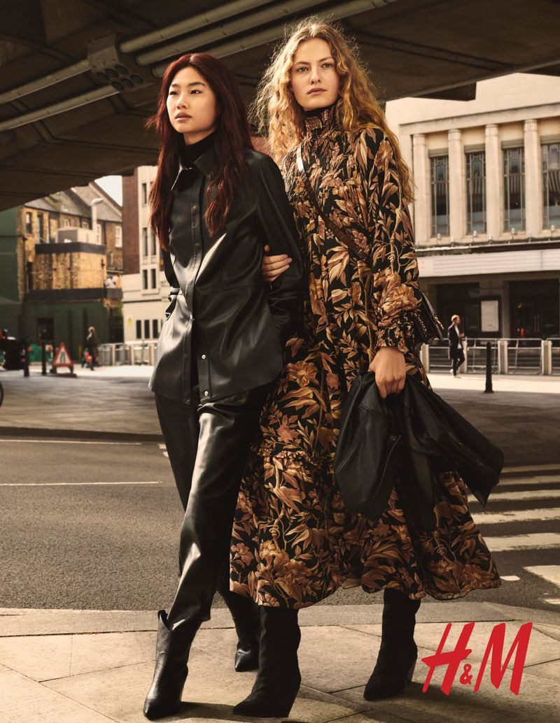 Felice Noordhoff and Hoyeon Jung by Christian MacDonald for H&M Fall 2019