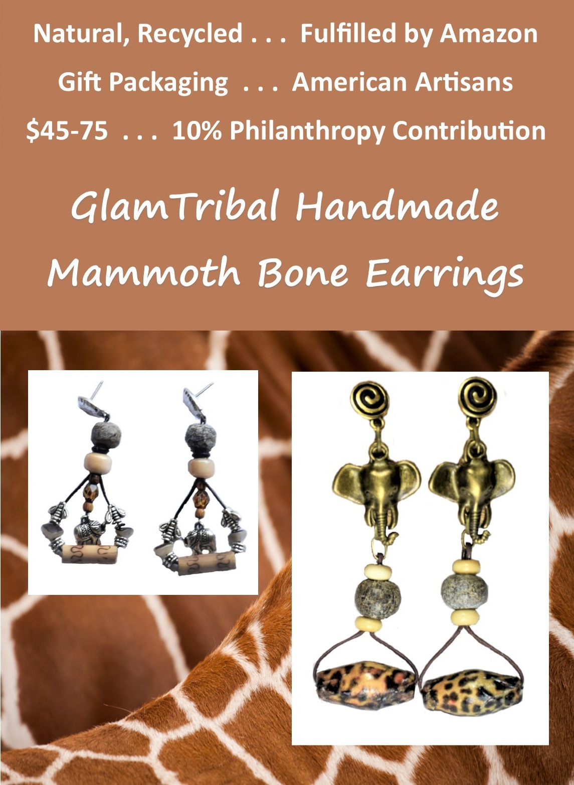 GlamTribal at Amazon Woolly Mammoth Earring Collage 91319.jpg