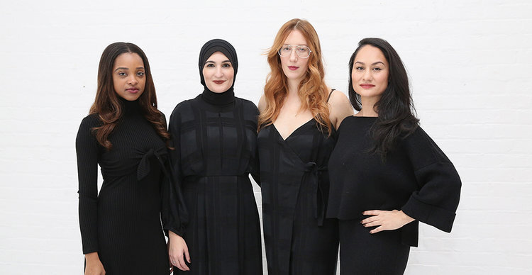 Tamika Mallory, Linda Sarsour, Bob Bland and Carmen Perez. Perez will stay on with The Women's March group.
