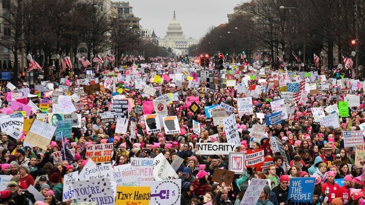 The January 21, 2017 Women's March was the largest single-day march in US history, coming the day after Trump's inauguration.