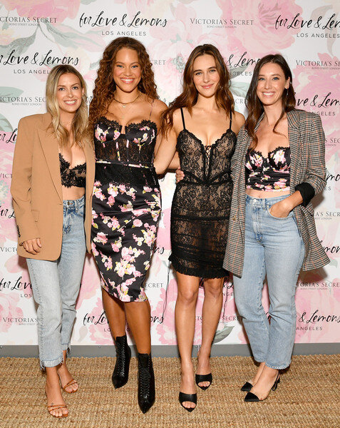 Gillian Rose Kern, Solange Van Doorn, Devon Lee Carlson and Laura Hall join Victoria's Secret and For Love & Lemons to celebrate their lingerie collaboration on September 19, 2019 in New York City. (Sept. 18, 2019 - Source: Getty Images North America)