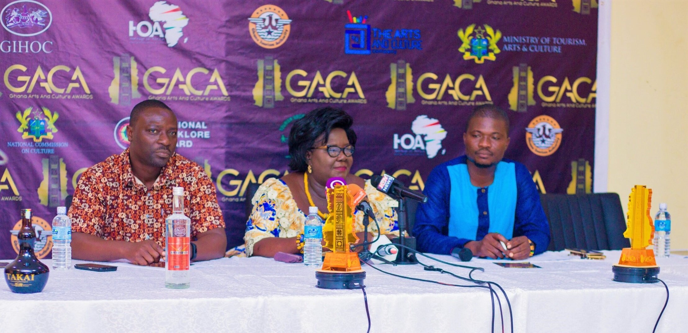 The Arts and Culture Company in partnership with the National Commission on Culture, Ghana Tourism Authority, National Folklore Board and Tourism Society of Ghana under the auspices of the Ministry of Tourism, Arts and Culture officially launched the  GHANA ARTS AND CULTURE AWARDS  on September 6, 2019 at the Accra Tourist Information Center and the event was being sponsored by GIHOC Distilleries Company Limited.  via