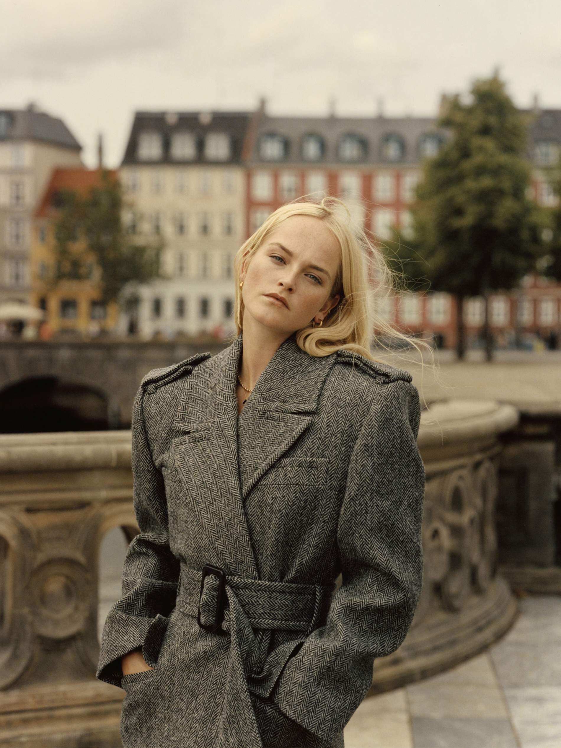 Image Jean Campbell by Quentin De Briey for Porter Edit. Coat, Saint Laurent; earrings, Sophie Buhai; necklace, Laura Lombardi