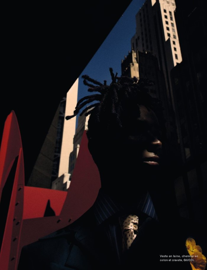 Johnny.Based  (Gothstar ) by Txema Yeste in 'Harlem' for Numéro France for October 2019.