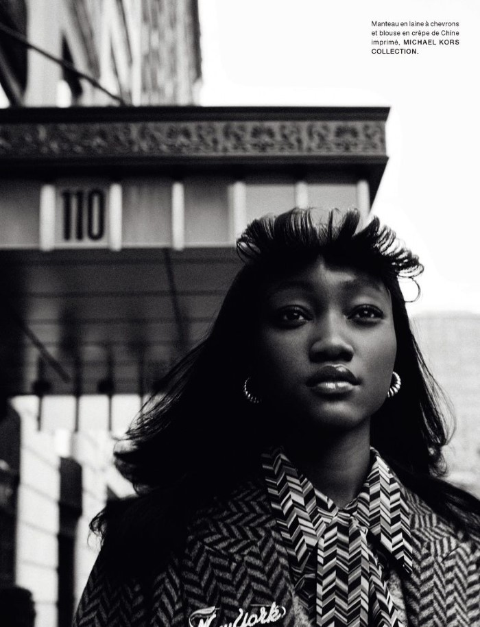 Eniola Abioro by Txema Yeste in 'Harlem' for Numéro France for October 2019.
