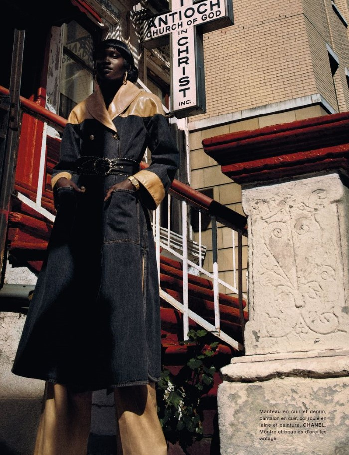 Achenrin Madit by Txema Yeste in 'Harlem' for Numéro France for October 2019.