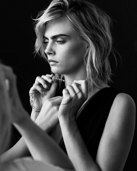 Cara Delevingne for Dior's Joaillerie Rose des Vents collection.