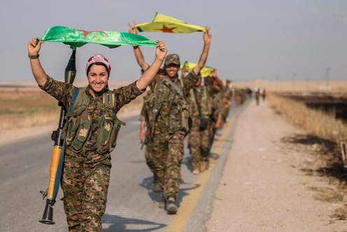 Kurdish women serve on the front lines of the conflicts in Syria, Turkey and Iraq. Rodi Said/Reuters